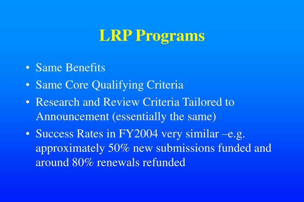 LRP Programs