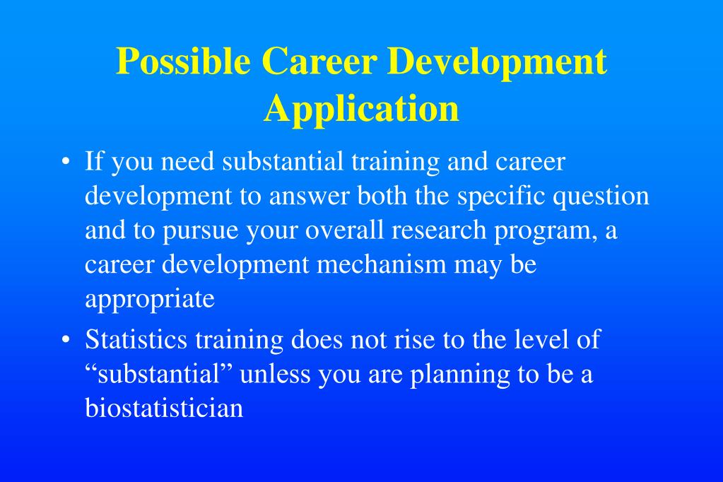 Possible Career Development Application