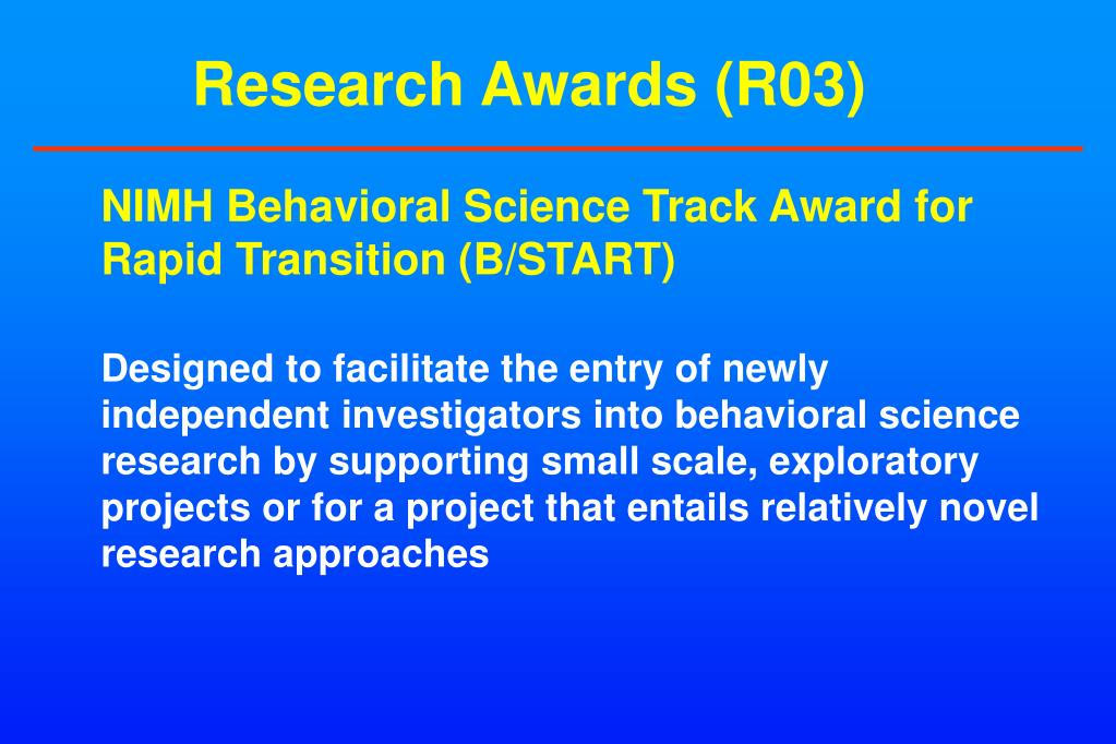 Research Awards (R03)