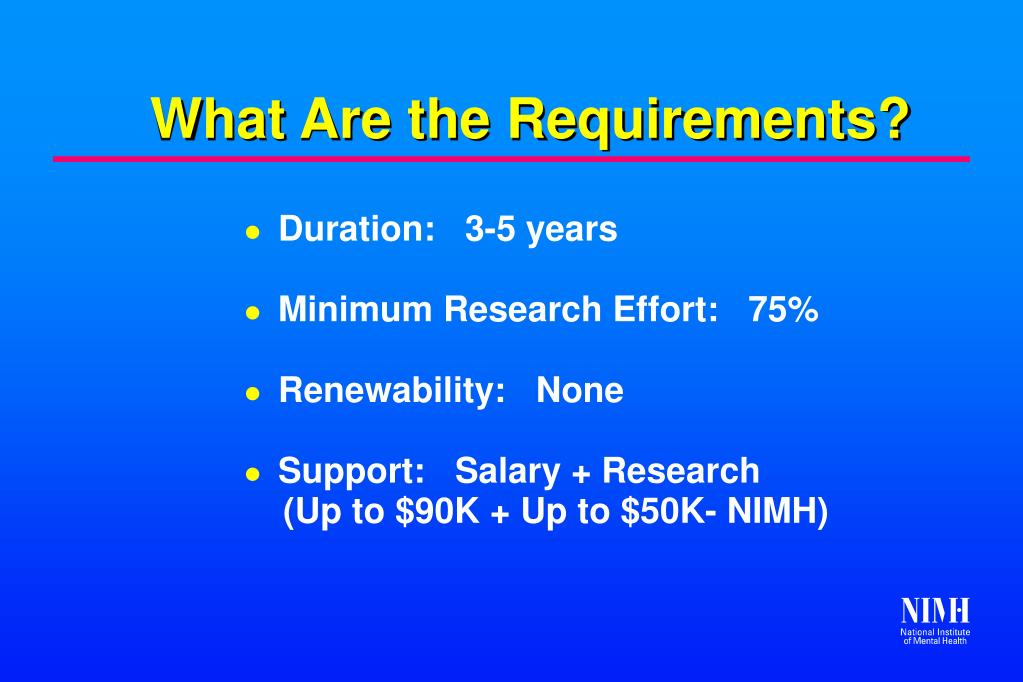 What Are the Requirements?