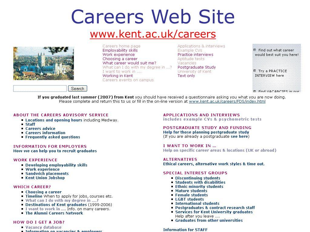 Careers Web Site