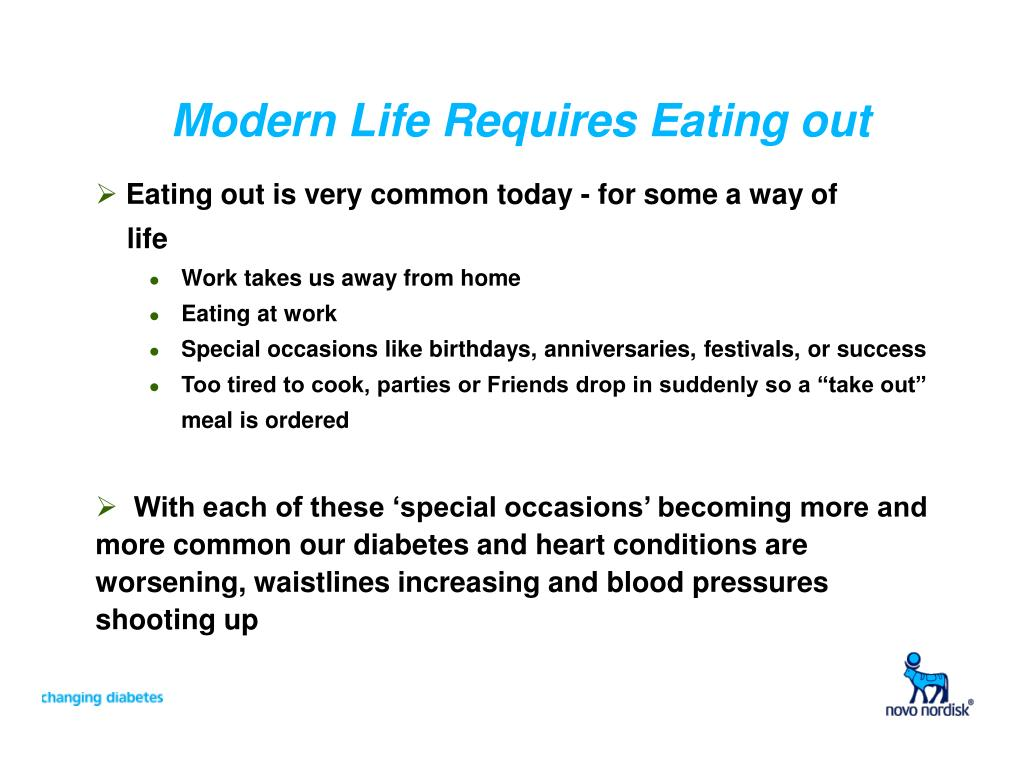 Modern Life Requires Eating out