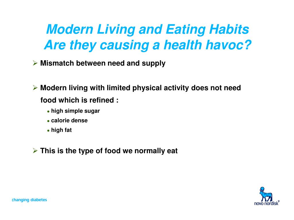 Modern Living and Eating Habits