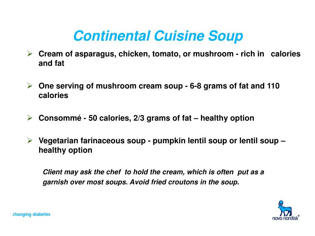 Continental Cuisine Soup