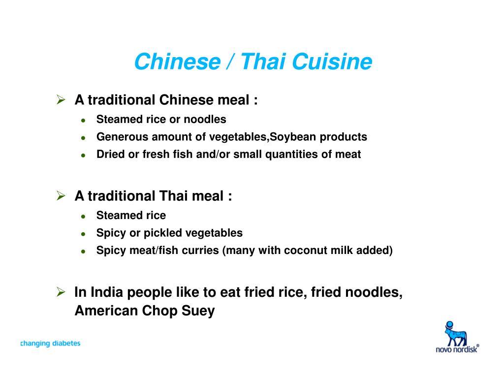 Chinese / Thai Cuisine