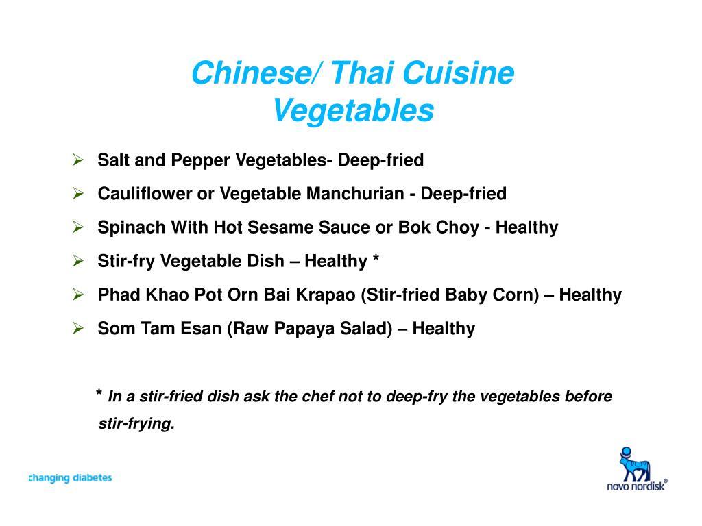 Chinese/ Thai Cuisine