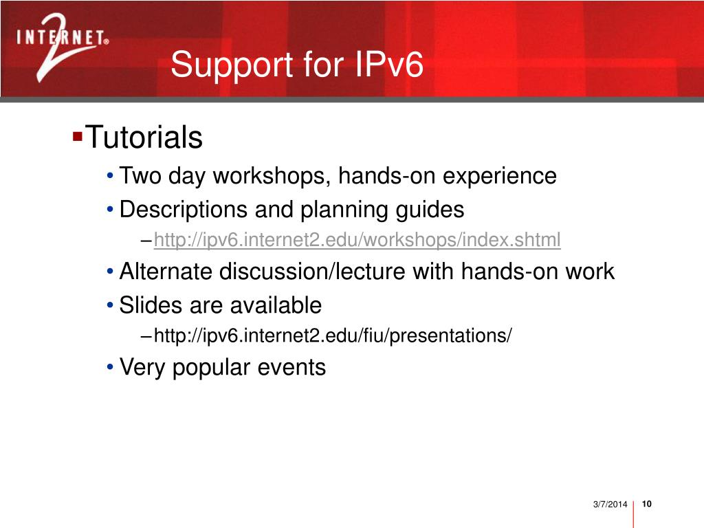Support for IPv6