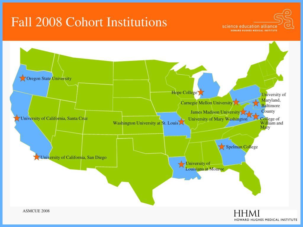 Fall 2008 Cohort Institutions