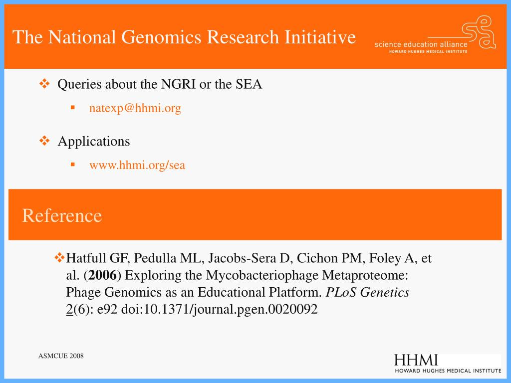 The National Genomics Research Initiative