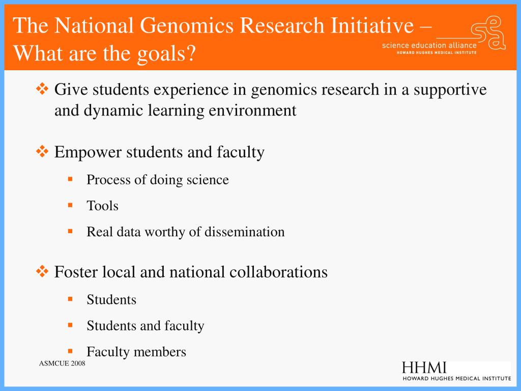The National Genomics Research Initiative –