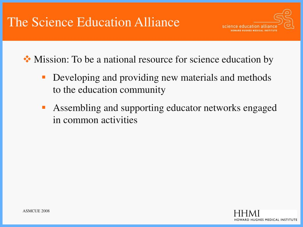 The Science Education Alliance