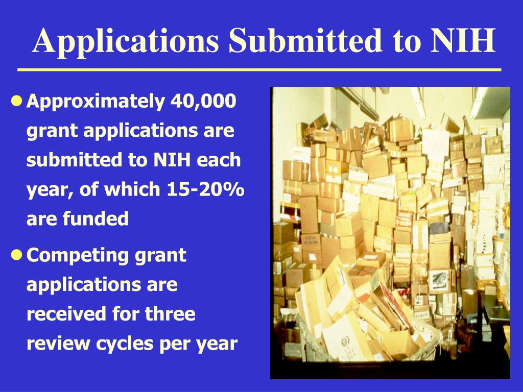 Applications Submitted to NIH