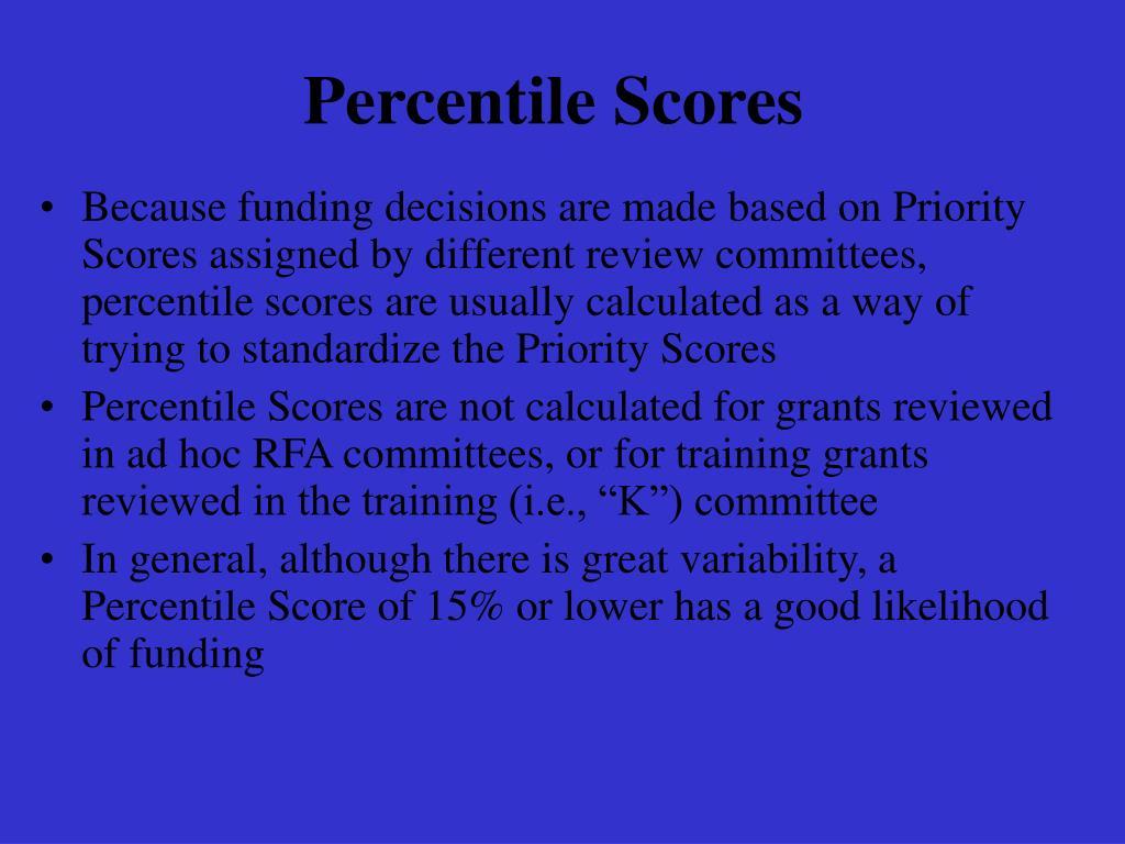 Percentile Scores