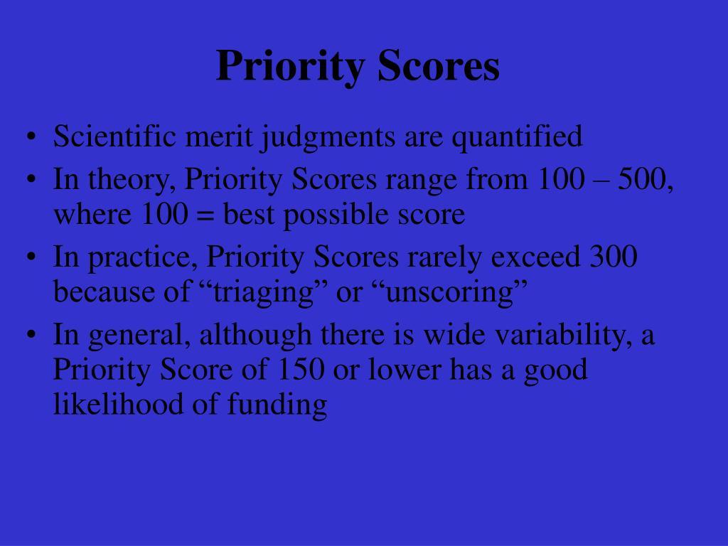 Priority Scores