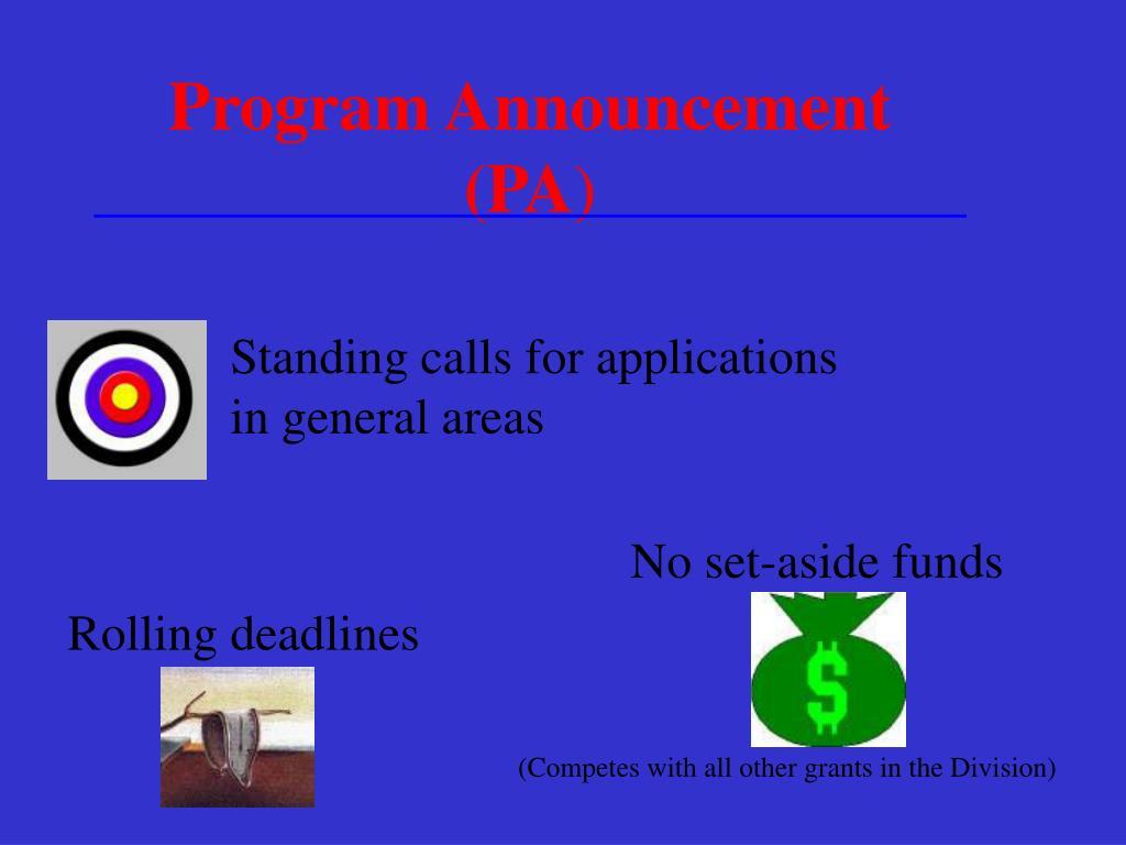 Program Announcement (PA
