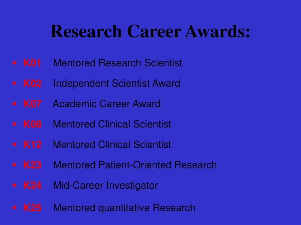Research Career Awards: