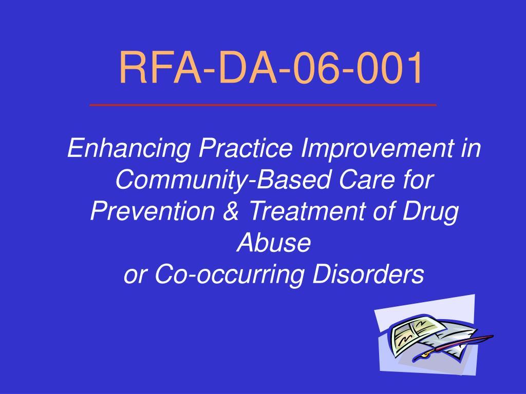 RFA-DA-06-001