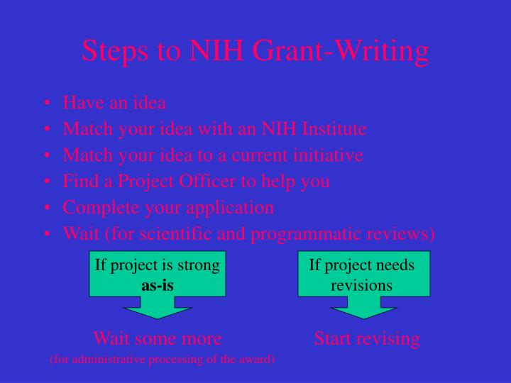 Steps to nih grant writing