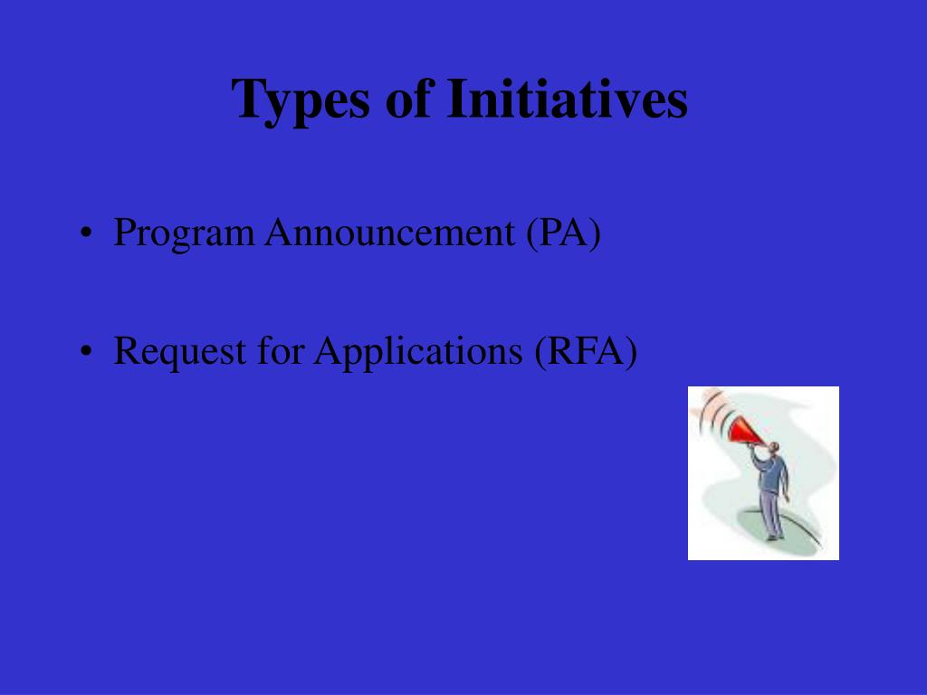 Types of Initiatives
