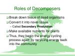 roles of decomposers