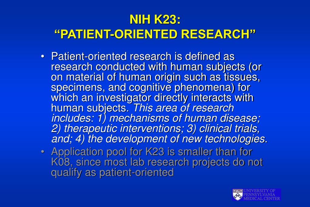 NIH K23:
