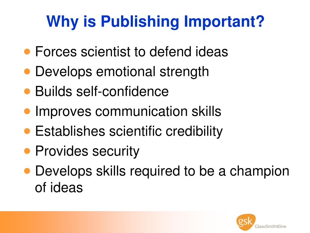 Why is Publishing Important?