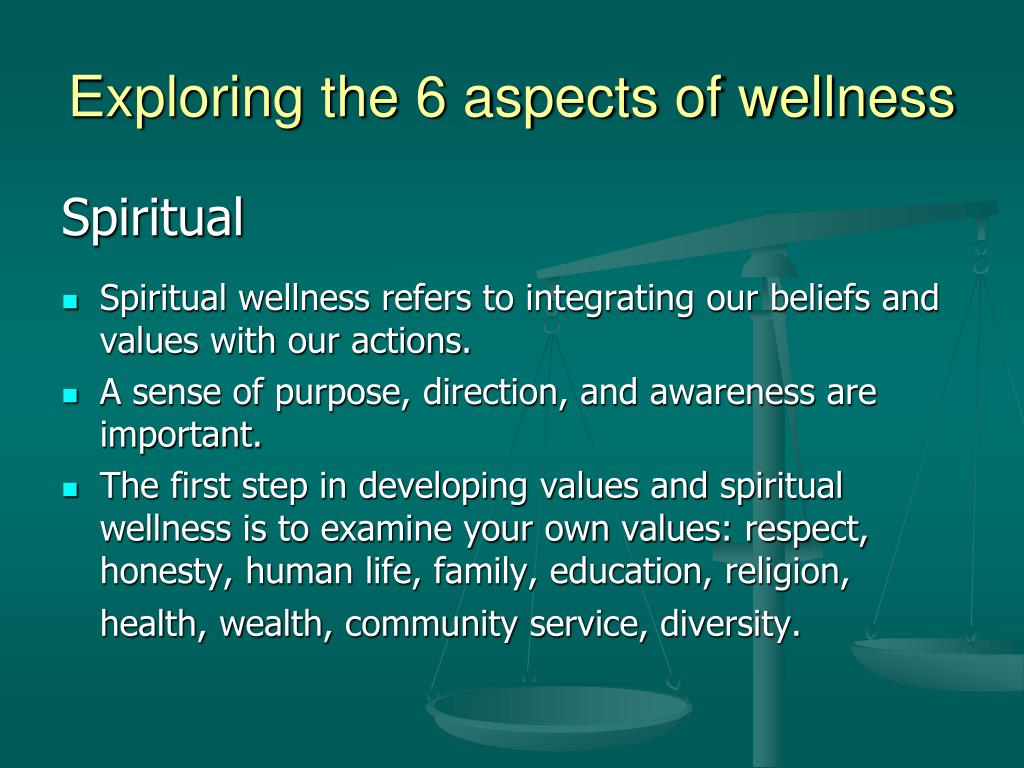 Exploring the 6 aspects of wellness