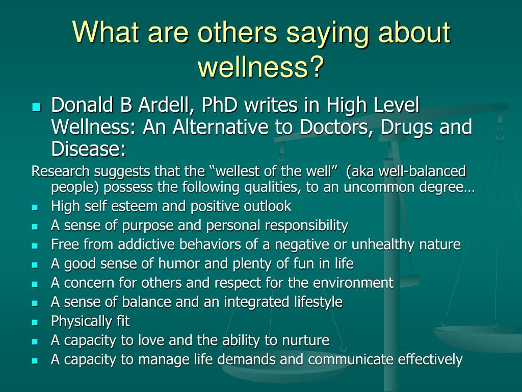 What are others saying about wellness?
