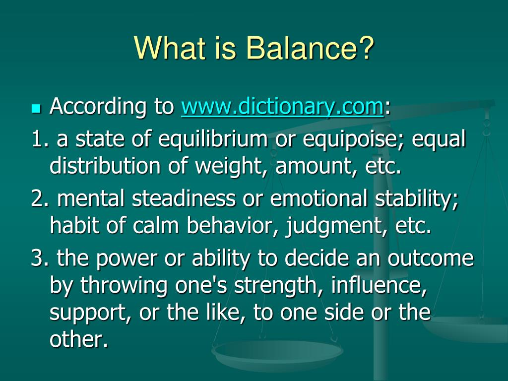 What is Balance?