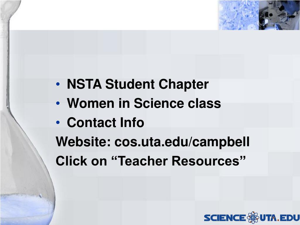 NSTA Student Chapter