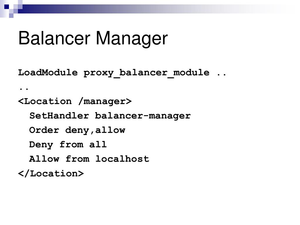 Balancer Manager
