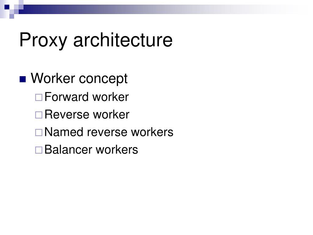 Proxy architecture
