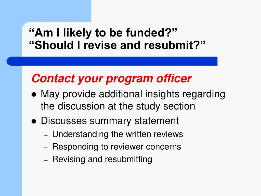 """Am I likely to be funded?"""