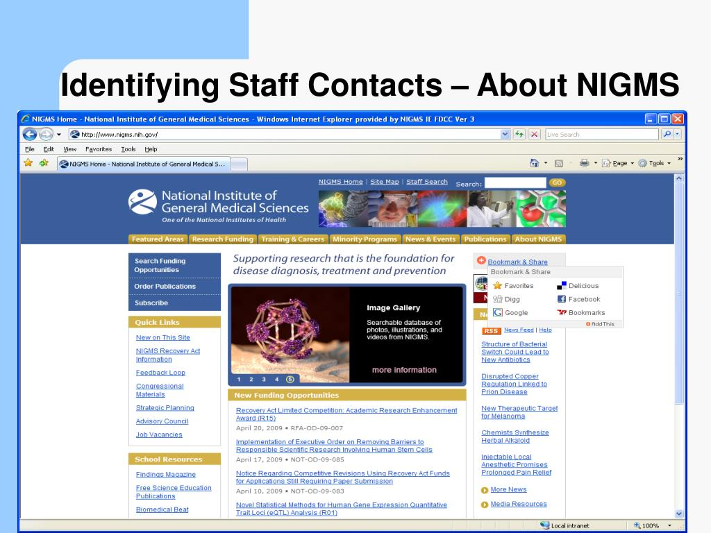 Identifying Staff Contacts