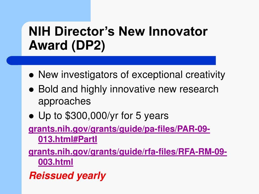 NIH Director's New Innovator Award (DP2)