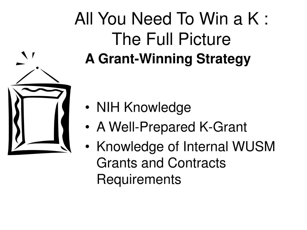 All You Need To Win a K :