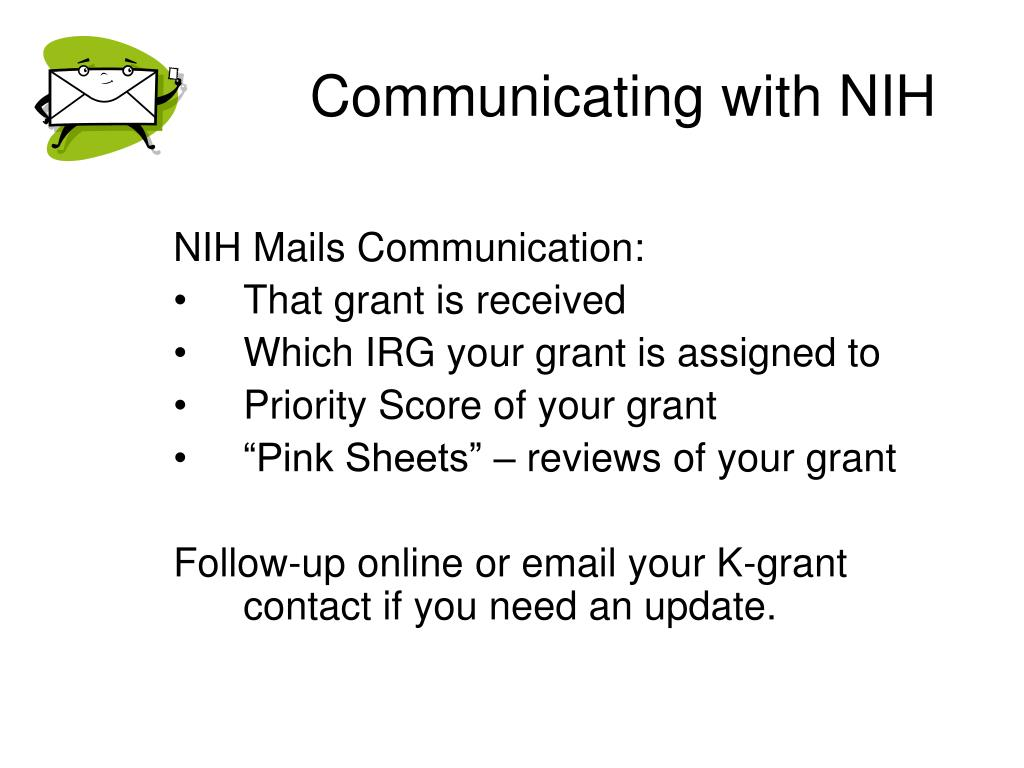 Communicating with NIH