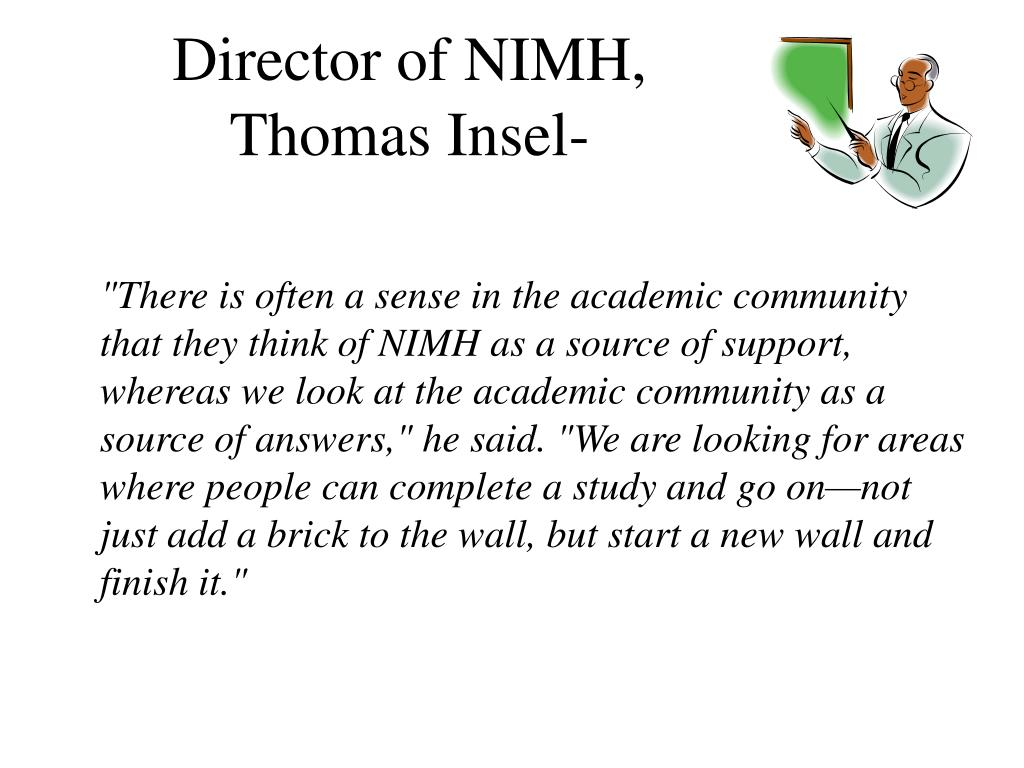 Director of NIMH,