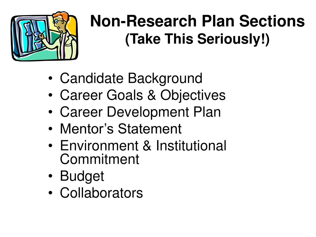 Non-Research Plan Sections