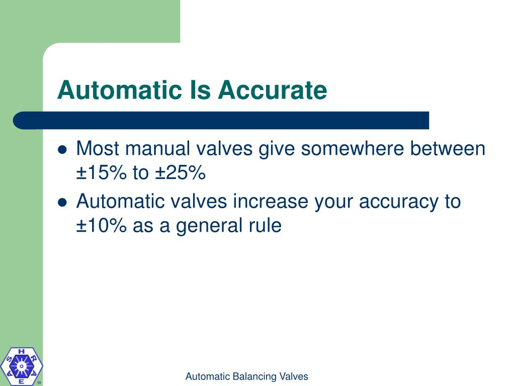 Automatic Is Accurate