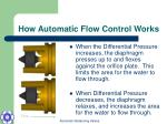 how automatic flow control works