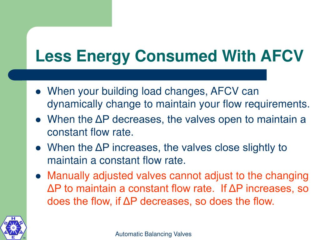 Less Energy Consumed With AFCV