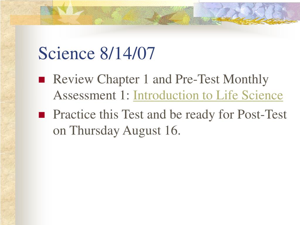 Science 8/14/07