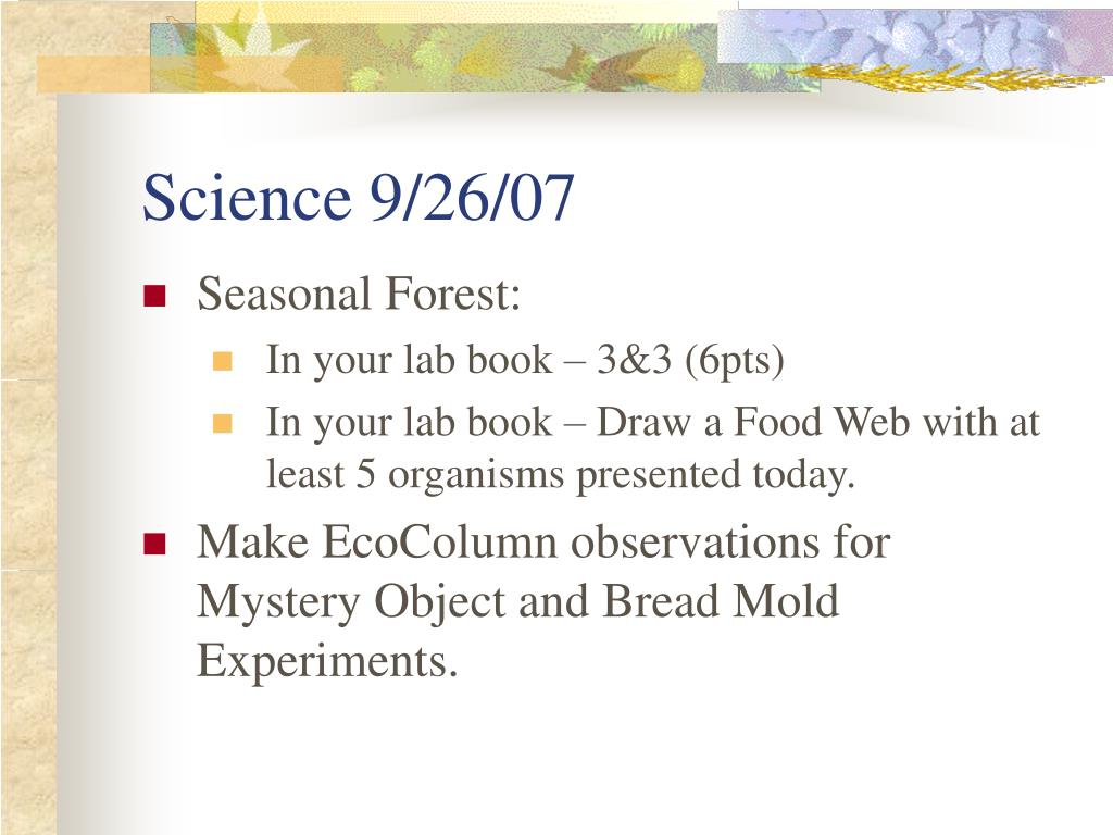 Science 9/26/07
