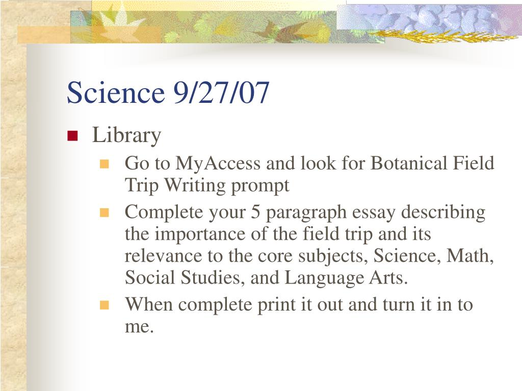 Science 9/27/07