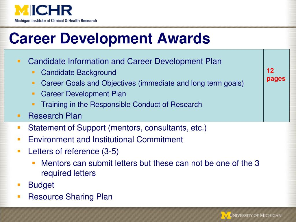 Career Development Awards