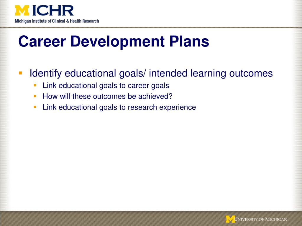 Career Development Plans