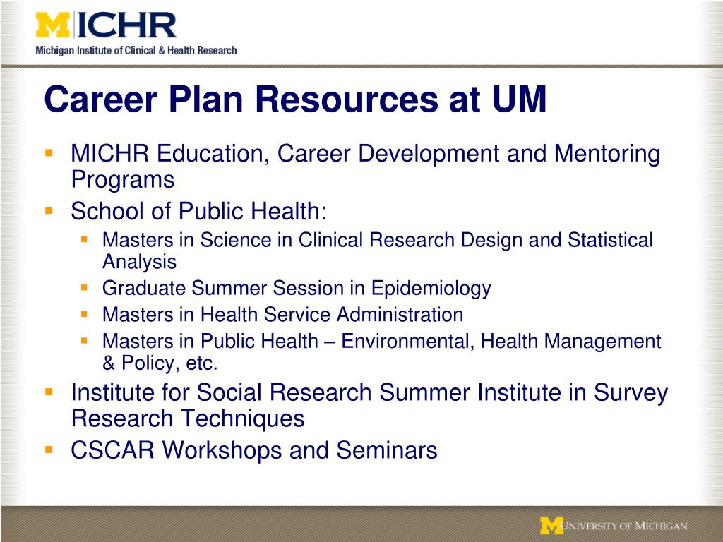 Career Plan Resources at UM