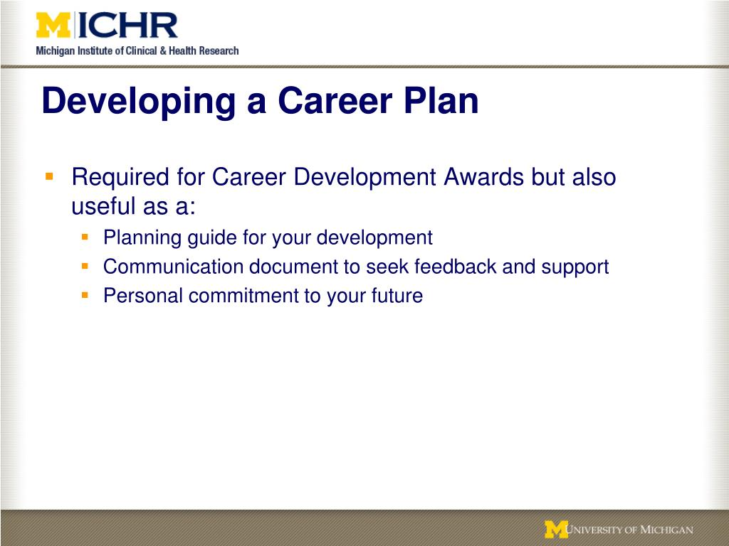 Developing a Career Plan