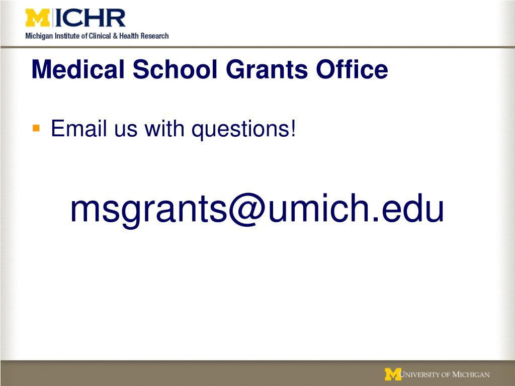 Medical School Grants Office